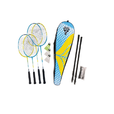 "Badminton Set ""Family"", gelb/blau - Schildkröt"