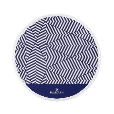 Strandtuch weiß/blau - Swarovski